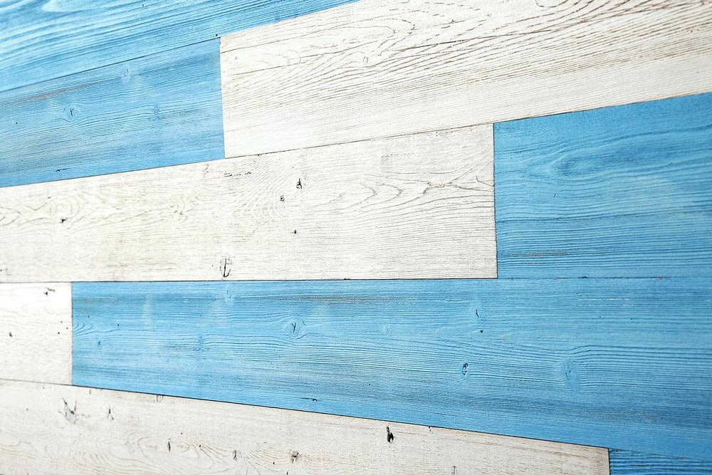BlueSky,White PeelandStickPlanks