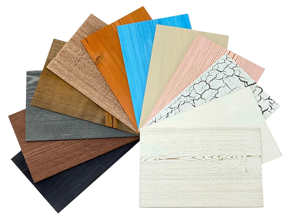 Peel and Stick Wood Samples