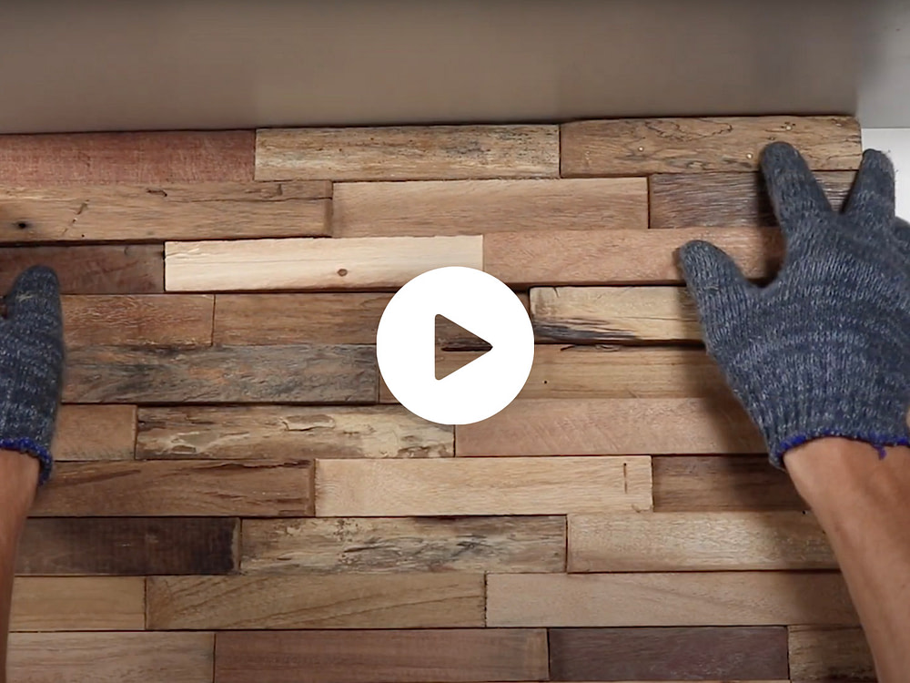 How to Install DIY 3D Reclaimed Wood Wall Panels. WoodyWalls